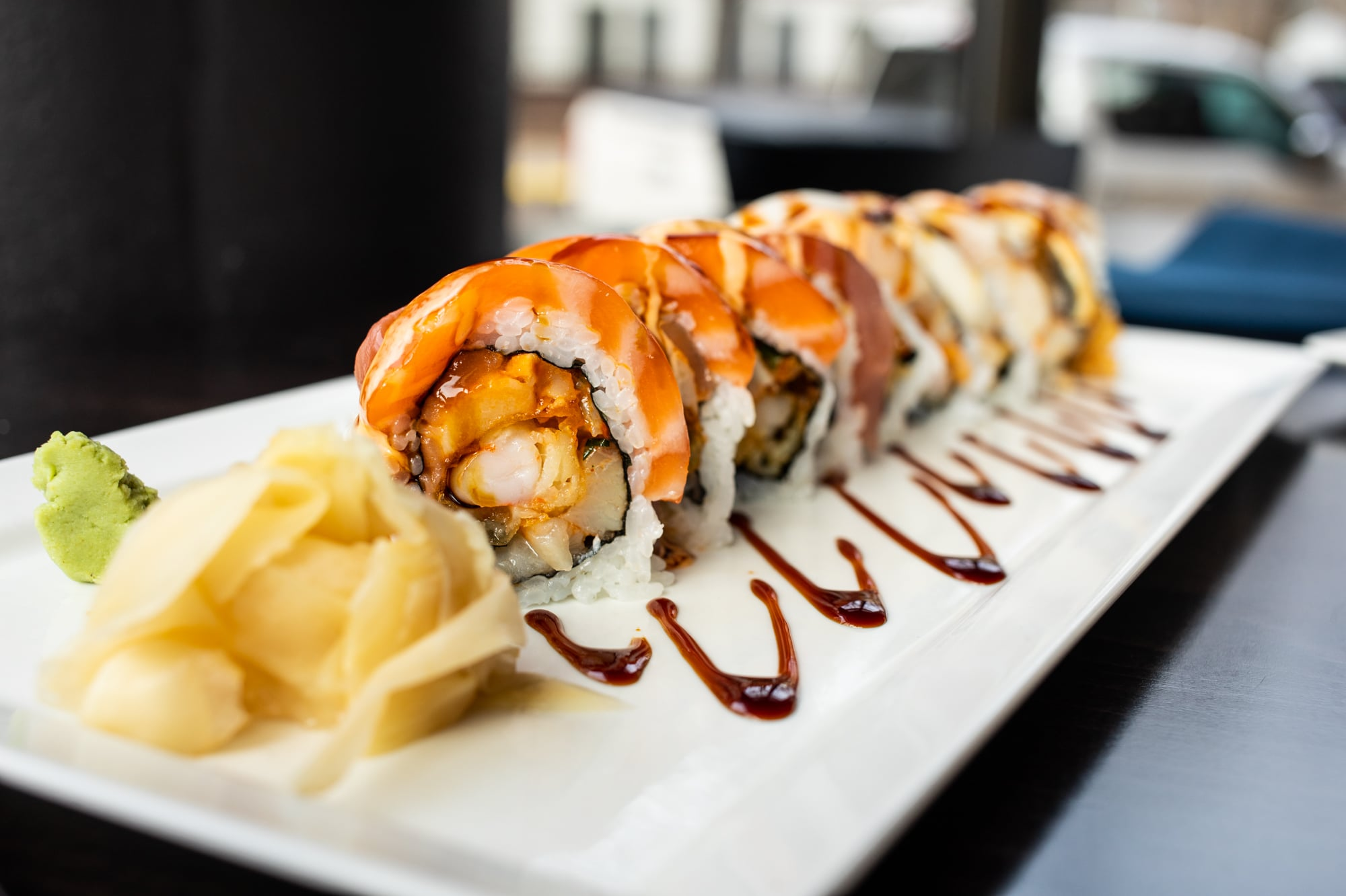 Review Yumi S Big Gamble The Silliness Of Massive Stunt Sushi Is Self Evident But The Dish Has Many Layers